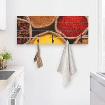 Wandgarderobe Holz - Colourful Spices
