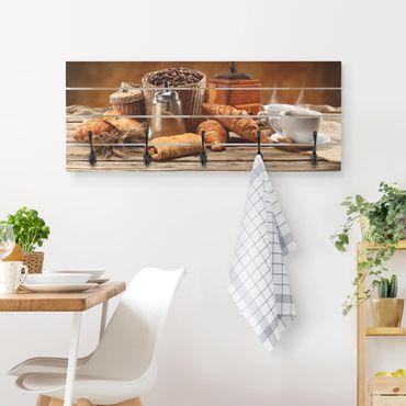 Wandgarderobe Holz - Frühstückstisch