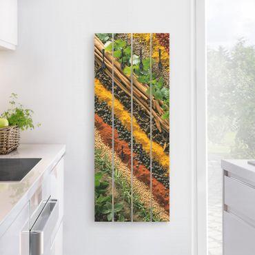 Wandgarderobe Holz - Gewürzstreifen