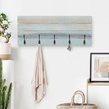 Wandgarderobe Holz - Horizont über Blau I