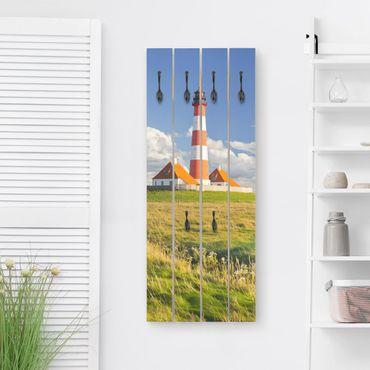 Wandgarderobe Holz - Leuchtturm in Schleswig-Holstein
