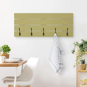 Wandgarderobe Holz - Lindgrün Bambus