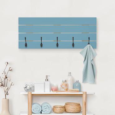 Wandgarderobe Holz - Meerblau