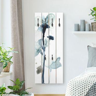 Wandgarderobe Holz - Mitternachtsblüten I