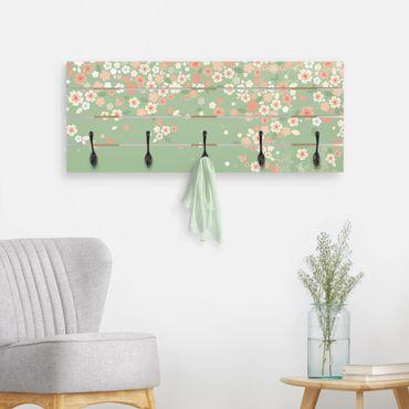 Wandgarderobe Holz - No.EK236 Spring Background