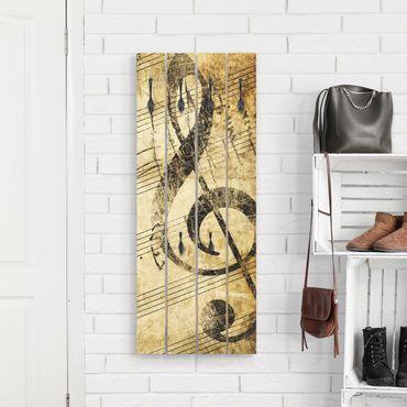 Wandgarderobe Holz - Note