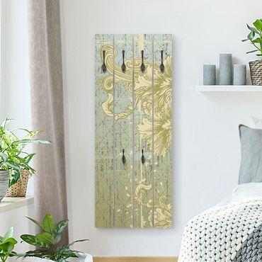 Wandgarderobe Holz - Ornament Hintergrund