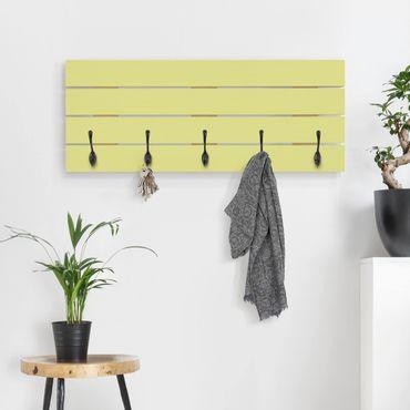 Wandgarderobe Holz - Pastellgrün