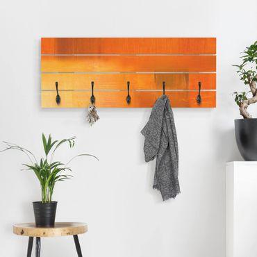 Wandgarderobe Holz - Petra Schüßler - Komposition in Orange und Braun 03