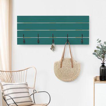 Wandgarderobe Holz - Piniengrün