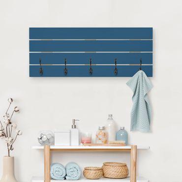Wandgarderobe Holz - Preussisch-Blau