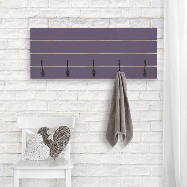 Wandgarderobe Holz - Rotviolett