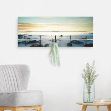 Wandgarderobe Holz - Sonnenuntergang über dem Ozean