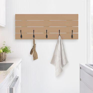Wandgarderobe Holz - Terracotta Taupe