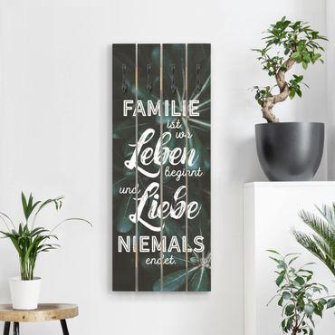 Wandgarderobe Holz - Tropical - Familie ist