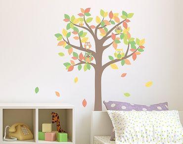 Wandsticker Eulenbaum