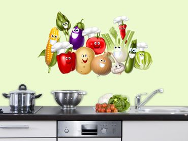 Wandsticker Freches Gemüse