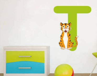 Wandsticker Kinder ABC - Tiger