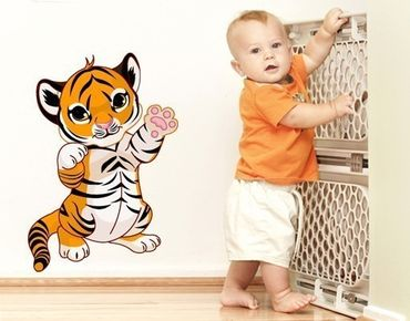 Wandsticker Tigerbaby