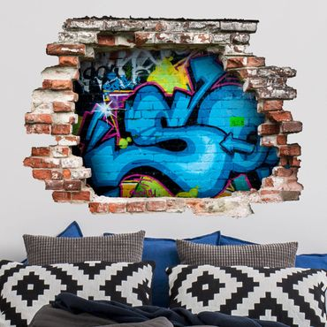 3D Wandtattoo - Colours of Graffiti - Quer 3:4