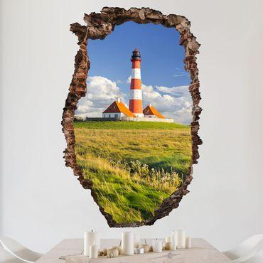 3D Wandtattoo - Leuchtturm in Schleswig-Holstein - Hoch 3:2