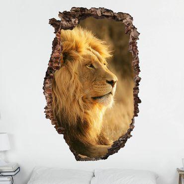 3D Wandtattoo - Löwenkönig - Hoch 3:2