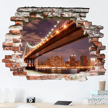 3D Wandtattoo - Manhattan Bridge - Quer 3:4
