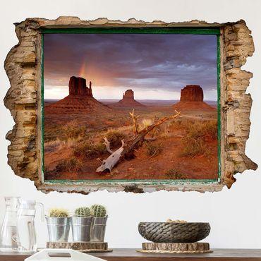 3D Wandtattoo - Monument Valley bei Sonnenuntergang - Quer 2:3