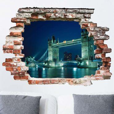 3D Wandtattoo - Tower Bridge - Quer 3:4