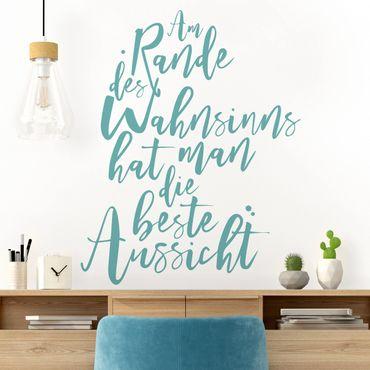 Wandtattoo - Am Rande des Wahnsinns