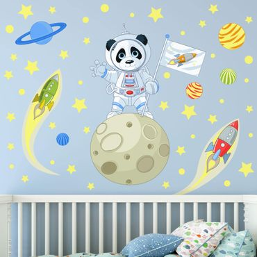 Wandtattoo - Astronaut Panda