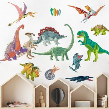 Wandtattoo - Buntes Dinosaurier Set