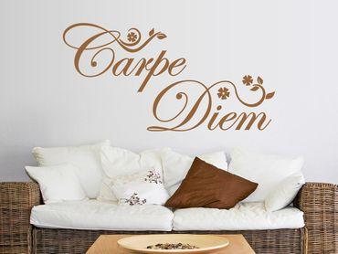 Wandtattoo Carpe Diem-Floral