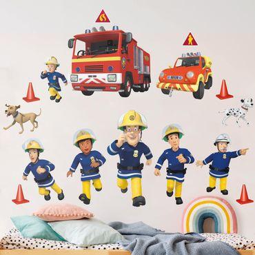 Wandtattoo - Feuerwehrmann Sam - Helden