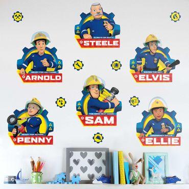 Wandtattoo - Feuerwehrmann Sam - Team