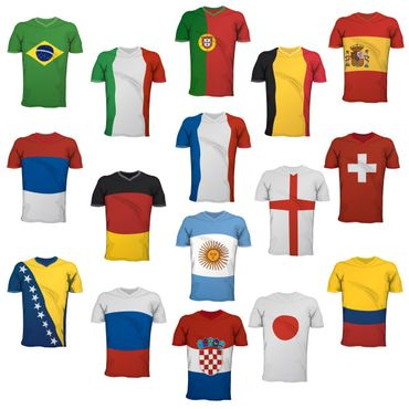 Wandtattoo Fußball - Fußball Trikots Sticker Set