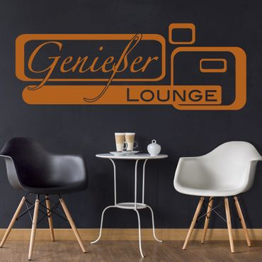 Wandtattoo Genießer-Lounge