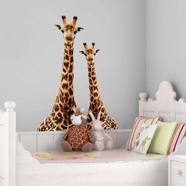 Wandtattoo Giraffe Portrait zweier Giraffen