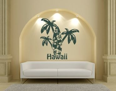 Wandtattoo Hawaii-Palmen