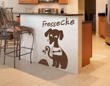 Wandtattoo Hunde-Fressecke