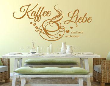 Wandtattoo Kaffee & Liebe