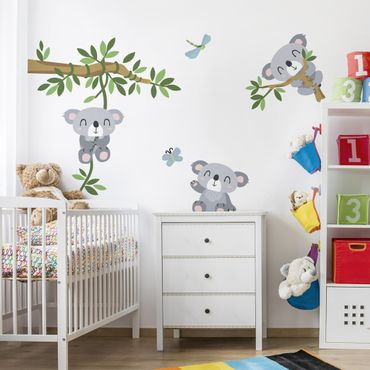 wandtattoo kinderzimmer koala set wandaufkleber baby. Black Bedroom Furniture Sets. Home Design Ideas