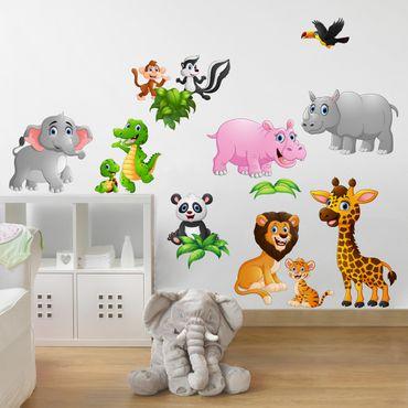 Wandtattoo Kinderzimmer Tiere des Dschungels