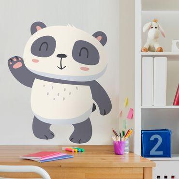 Wandtattoo Kinderzimmer Winkender Panda