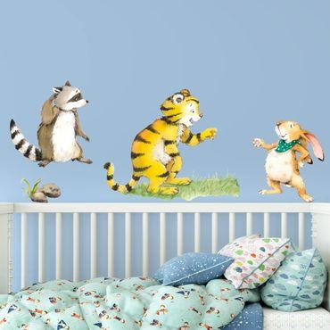 Wandtattoo - Kleiner Tiger - Freunde Set