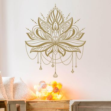 Wandtattoo - Lotus mit Ketten