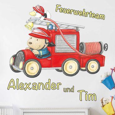 Wandtattoo mit Wunschtext - Feuerwehrteam