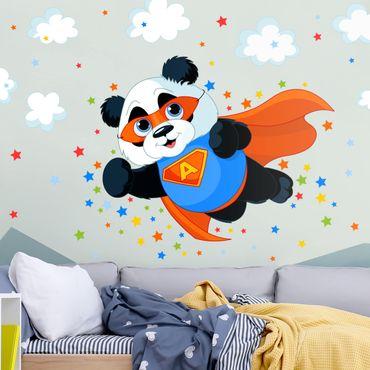 Wandtattoo mit Wunschtext - Super Panda