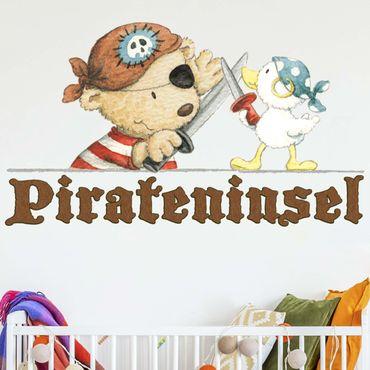 Wandtattoo - Pitzelpatz und Schnaddeldatz auf Pirateninsel