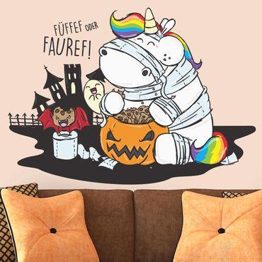 Wandtattoo Pummeleinhorn Halloween